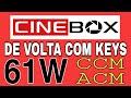 URGENTE! Cine Box de Volta com Keys no 61w Amazonas!