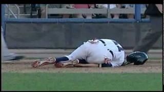 Jeff Larish broken leg