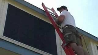 joshhobbs com surface mounting a solar screen to a horizontal slide window