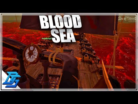 FIGHTING A SHIP OF 8, INTO THE BLOOD SEA - Sea of Thieves Gameplay- Pt.5 (Beta)
