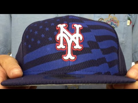 65c3747912c Mets  2015 JULY 4TH STARS N STRIPES  Hat by New Era - YouTube
