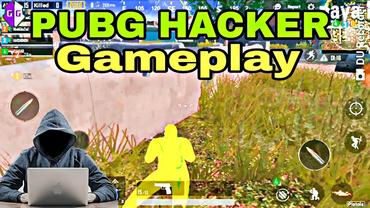 Pubg Mobile  Hacker Cheater Gameplay   Wall hack/ Aimbot/High Jump/ Every Think In This Video  