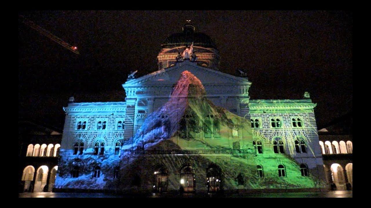 Matterhorn am Bundeshaus -2015 - Bundesplatz - Bern - Matterhorn ...
