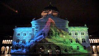 Matterhorn am Bundeshaus -2015 - Bundesplatz - Bern - Matterhorn - Rendezs-vous Bundeshaus