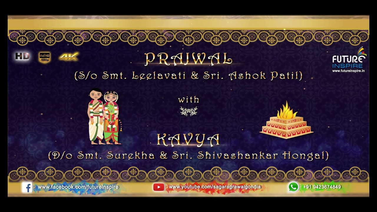 Prajwal weds kavya traditional south indian kannada whatsapp prajwal weds kavya traditional south indian kannada whatsapp wedding invitation video stopboris Image collections