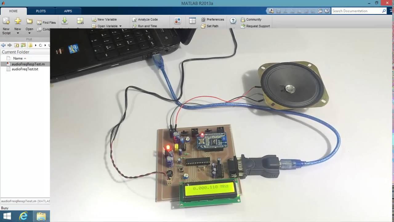 Audio Frequency Generator and Response Analyzer MATLAB