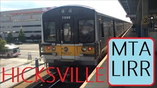 trains station tour at hicksville new york usa mta lirr long island rail road train