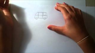 how to draw Hippie Stuff : Volkswagen Van _ Bella Does Lots of Things!