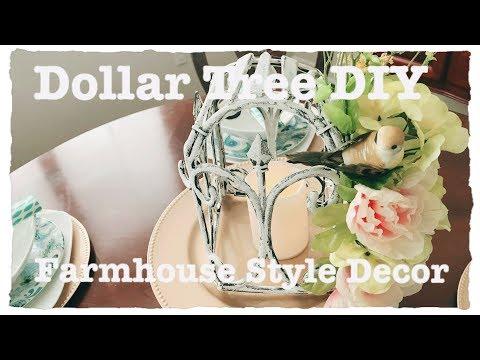 Dollar Tree DIY Farmhouse Birdcage Lantern Home Decor or Wedding Centerpiece