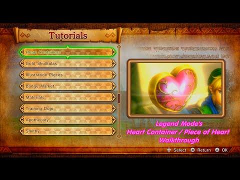 Hyrule Warriors Legend Mode S Heart Container Piece Of Heart Walkthrough Youtube