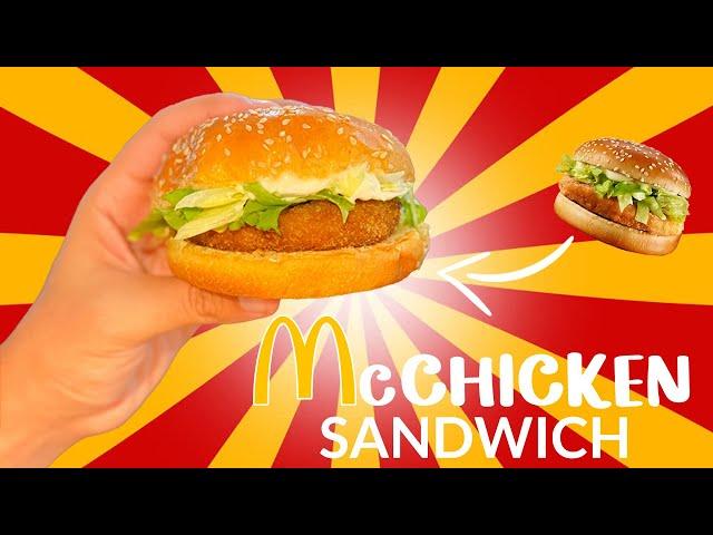 How to make the Mc Chicken!! (The Original Recipe) 🍔🍟