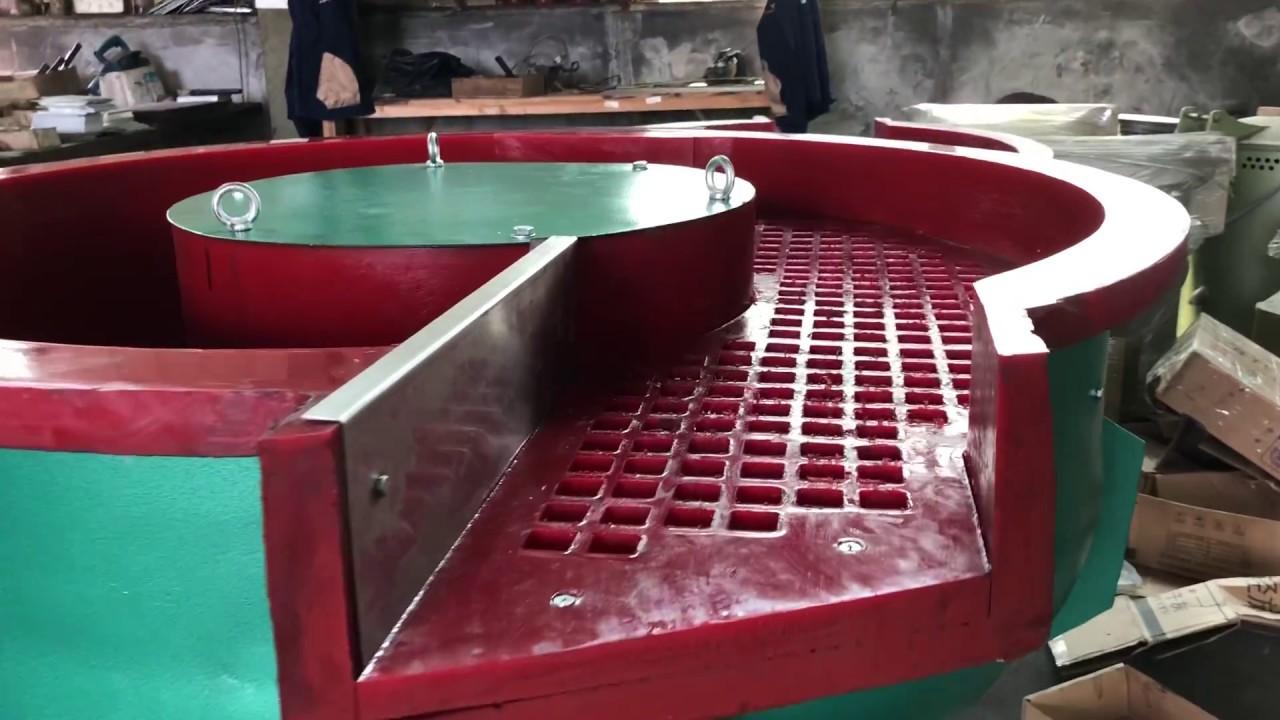 Vibratory Deburring Tumbler, Vibratory Deburring Equipment with Parts  Separator