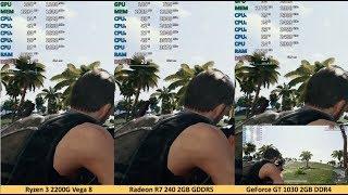 Ryzen 3 2200G vs. Radeon R7 240 vs. GeForce GT 1030 DDR4 Gaming Performance