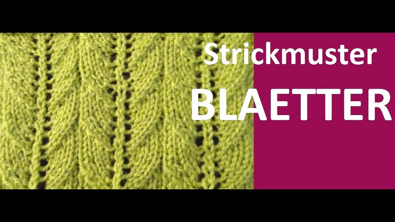 Modern Blätter Strickmuster Collection - Decke Stricken Muster ...
