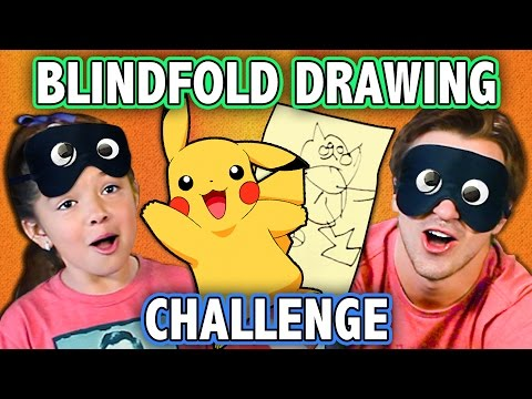 Thumbnail: BLINDFOLD DRAWING CHALLENGE! (ft. KIDS REACT Cast) | Challenge Chalice