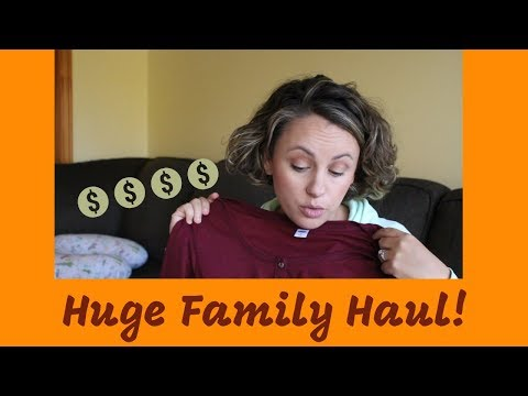 Mom, Baby & Big Kid HAUL! | Old Navy, Lululemon, H&M, Aritzia, Once Upon A Child