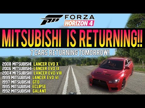Forza Horizon 4 - MITSUBISHI IS BACK! *CONFIRMED* Free Car Pack! - Is Toyota Next? thumbnail