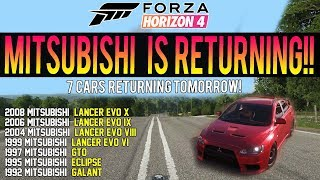 Forza Horizon 4 - MITSUBISHI IS BACK! *CONFIRMED* Free Car Pack! - Is Toyota Next?