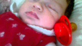 Baby Snoring - Funny Cute Baby Snoring Cassie@1 month old - The Bainbridges