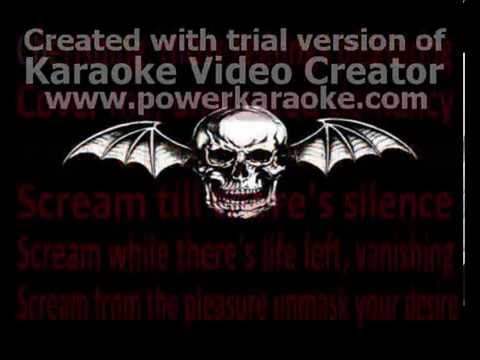 Avenged Sevenfold - Scream(Karaoke)