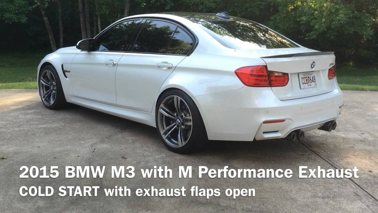 F80 Bmw M3 Cold Start With M Performance Exhaust Flaps