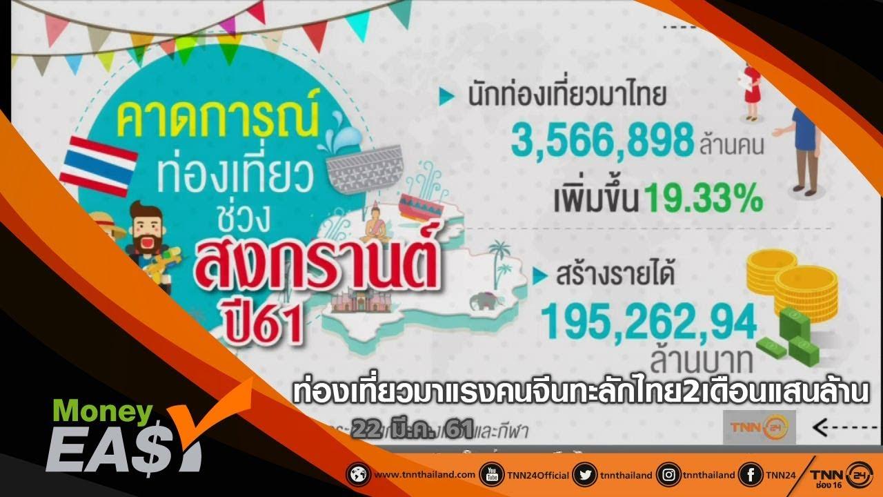 ท่องเที่ยวไทยมาแรงคนจีนทะลักไทย2เดือนแสนล้าน | MONEY EASY (1/3) (22/03/2561)