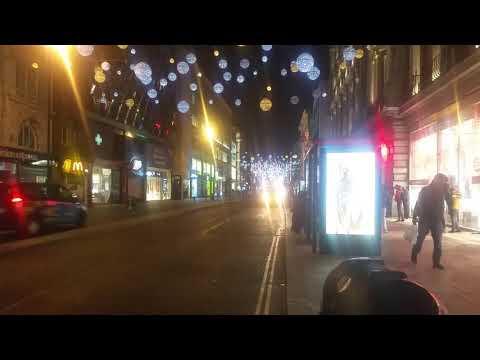 Oxford Street London lights on Christmas