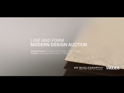 'Line and Form' Modern Design Auction