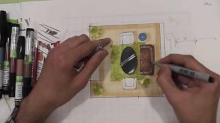 Урок 9 - Рисуем скетч план в Arte de grass
