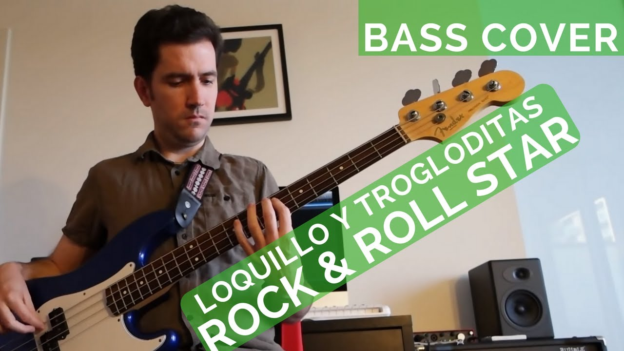 Loquillo Y Trogloditas Rock Roll Star Bass Cover Youtube