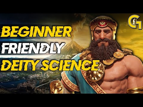 Civ 6 Gathering Storm Fast Science Victory (Deity w/ Gilgame