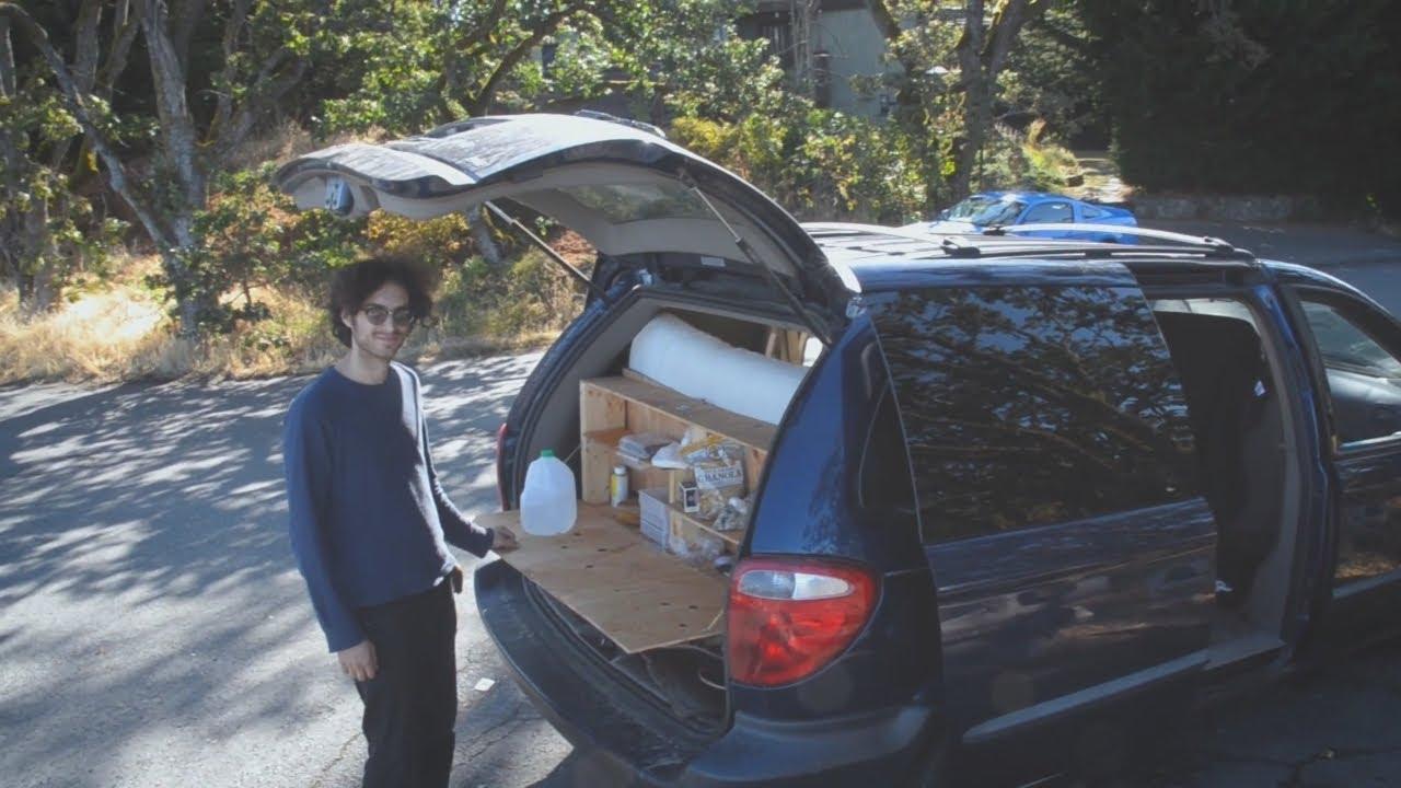 Stealth Mini Van Camper Conversion Tour Unique Kitchen