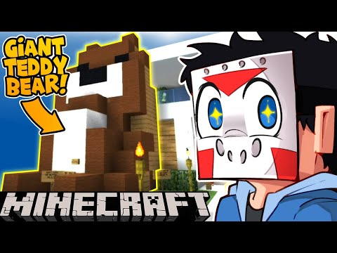 SOMEONE BUILT ME A GIANT TEDDY BEAR ON MINECRAFT! -  Ep. 25!