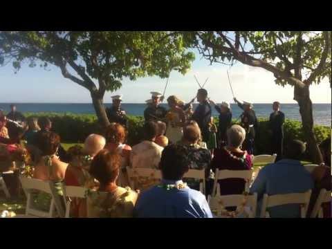 Hawaii Wedding Venue- Marriott Ihilani (Marine Corps Sword Arch)