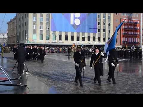 DFN:US Army Marches in Estonia's Independence Day Parade (Social Media),TALLINN, ESTONIA, 02.24.2018
