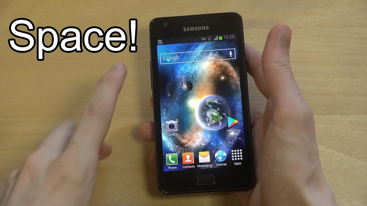 Amazing Space Live Wallpaper App Samsung Galaxy S2 Review Youtube