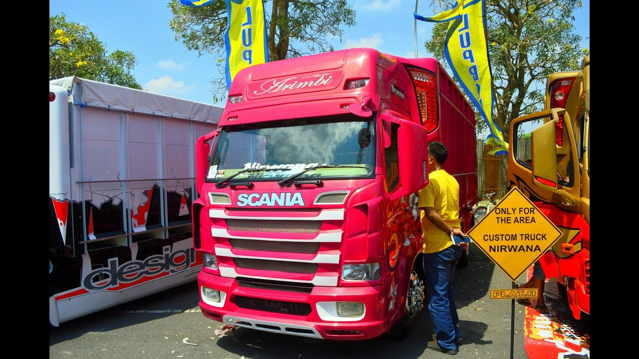 MODIFIKASI TRUK CANTER SCANIA PINK BY NIRWANA