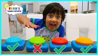 Download Don't Push The Wrong Button Challenge with Ryan's Family Review! Mp3 and Videos