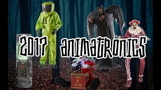 Spirit Halloween 2017 Animatronic Characters! (High Quality)