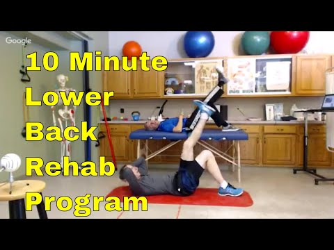 10 Min. Lower Back Rehab (Stretches & Stabilization for Back Pain)