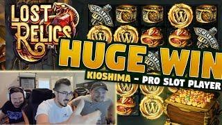 Big Win Lost Relics - 5 euro bet - Casino With KioShiMa (k1o) from LIVE stream