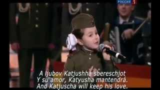 Katyusha Cancion Sovietica subtítulos en Español and English subtitles Singer Valeria kurnushkina