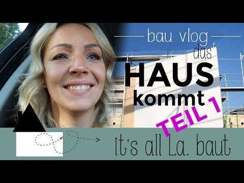 bau vlog #6   das HAUS kommt   Wir bauen ein FERTIGHAUS    Frau La.    HELD HAUS