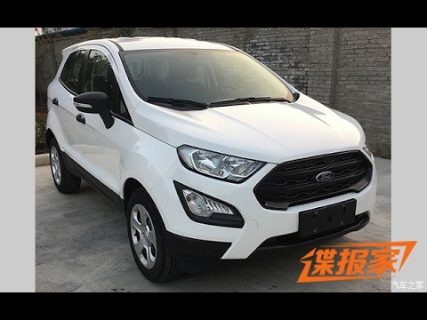 base version of the india bound ford ecosport facelift spied in china youtube. Black Bedroom Furniture Sets. Home Design Ideas