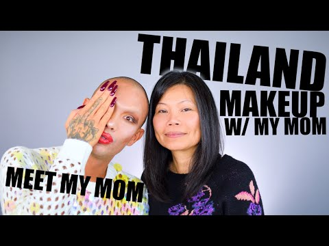 TESTING WEIRD MAKEUP WITH MY MOM! - FIRST IMPRESSION OF THAILAND'S BEST BEAUTY BRAND | Kimora Blac