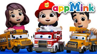 Fire Truck Song | Yes Yes Fire Truck Song | Wheels On The Bus Go Round And Round #appmink Kids Video