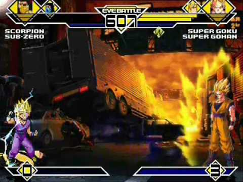 Team Mortal Kombat vs Team Dragon Ball Z