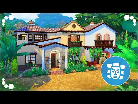 JUNGLE VACATION VILLA    The Sims 4   Speed Build