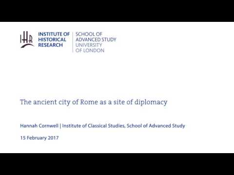 The ancient city of Rome as a site of diplomacy