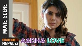 New Nepali Movie AADHA LOVE Scene | Rojisha Shahi